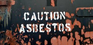 asbestos caution sign