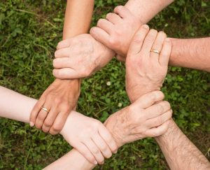 support group hands