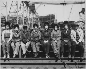 welders at Ingalls shipyard