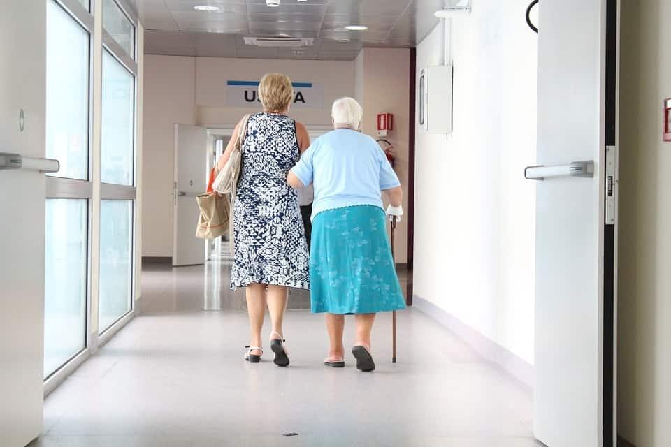 Elderly walking down the aisle