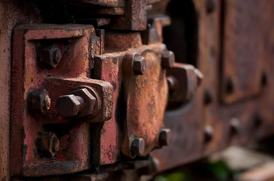 close up of rusted metal