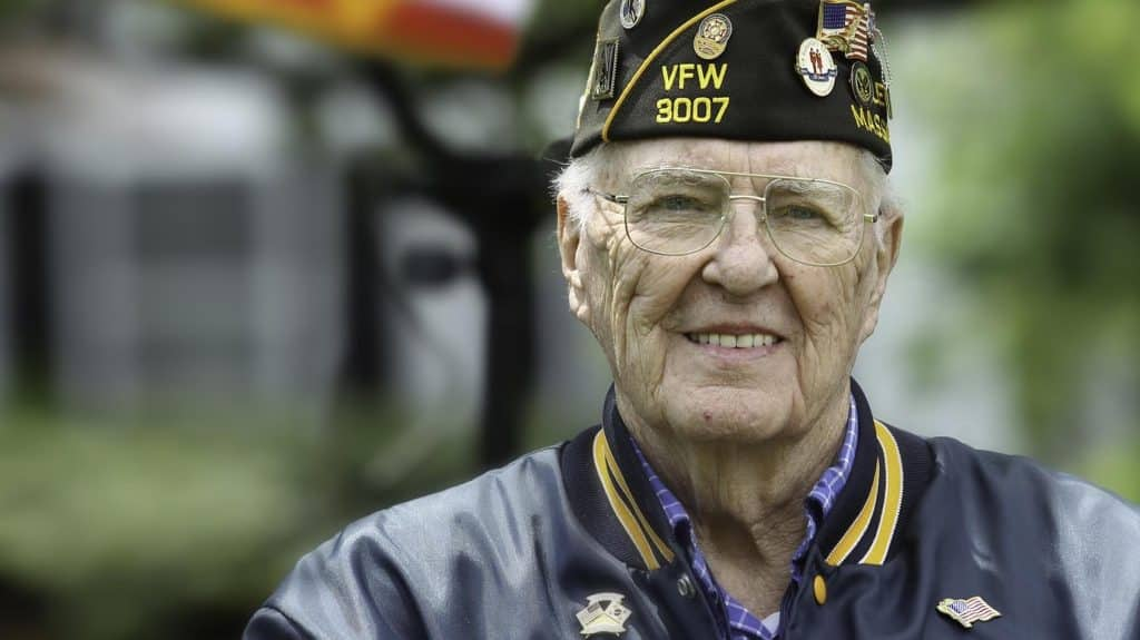 Close up of a veteran